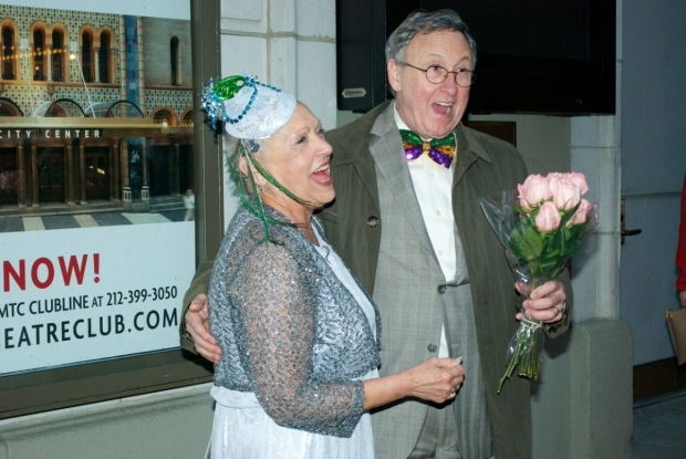 <p>The proud parents of playwright Lisa D&#39&#x3B;Amour show off their festive New Orleans attire.</p><br />(© Kristin Goehring)