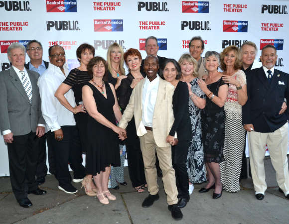 <p>The Public Theater&#39&#x3B;s gala featured a reunion of many original cast members of <em>A Chorus Line</em>.</p><br />(©  David Gordon)