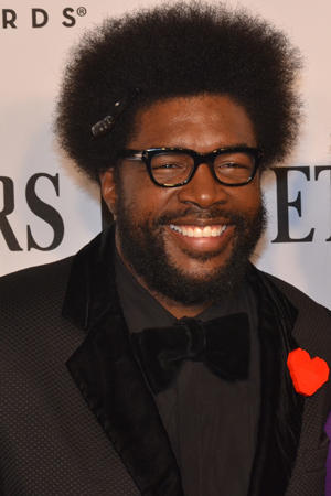 <p>The Roots drummer Questlove enjoys Tony night. </p><br />(© David Gordon)