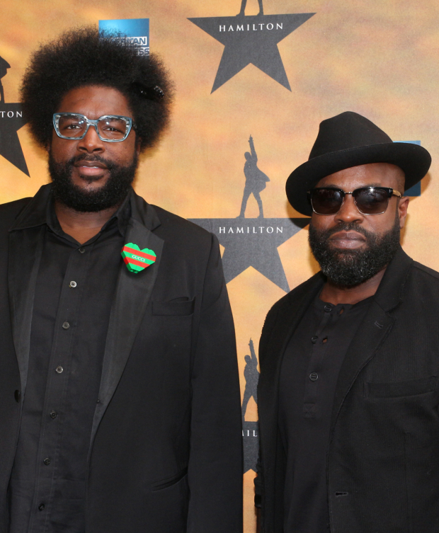 <p>The Roots members Questlove and Black Thought are the producers of the upcoming <em>Hamilton</em> cast recording.</p><br />(© David Gordon)