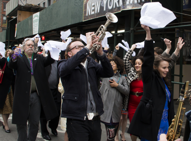 <p>The saints go marching in...on 8th Avenue.</p>