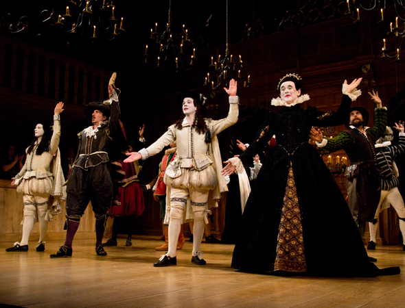 <p>The scene at curtain call for <em>Twelfth Night</em>.</p><br />(© David Gordon)