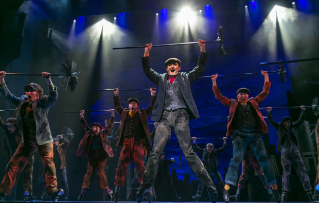 <p>The scene from <em>Mary Poppins</em> at Paper Mill Playhouse.</p><br />(© Jerry Dalia)