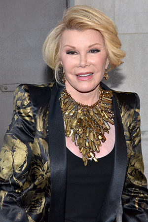 <p>The screen and stage veterans on hand included the always-fashionable Joan Rivers.</p><br />(© David Gordon)