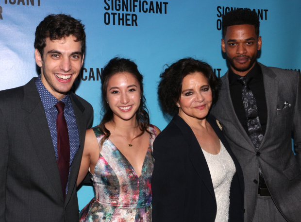 <p>The significant understudies of <em>Significant Other</em>: Ben Edelman, Sasha Diamond, Kathryn Kates, and Brooks Brantly.</p><br />(© David Gordon)