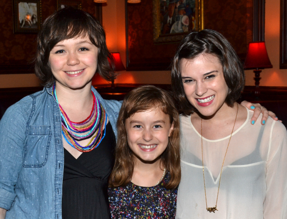 <p>The sisterhood of <em>Fun Home</em>: cast members Emily Skeggs, Sydney Lucas, and Alexandra Socha.</p><br />(© David Gordon)