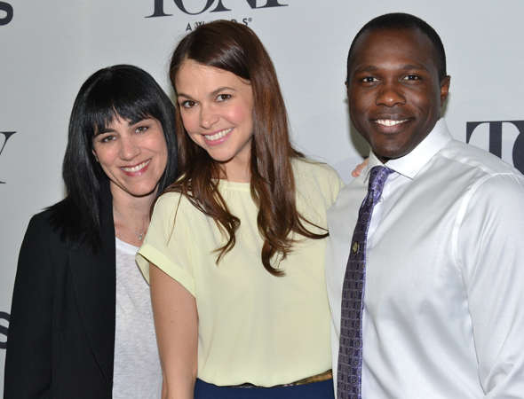 <p>The smiley <em>Violet</em> nominees: director Leigh Silverman and stars Sutton Foster and Joshua Henry.</p><br />(© David Gordon)