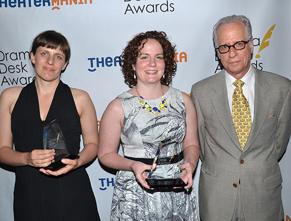<p>The special award winners from off-Broadway&#39&#x3B;s Soho Rep: Artistic Director Sarah Benson, Executive Director Cynthia Flowers, and Board Chair Jon Dembrow.</p><br />(© David Gordon)