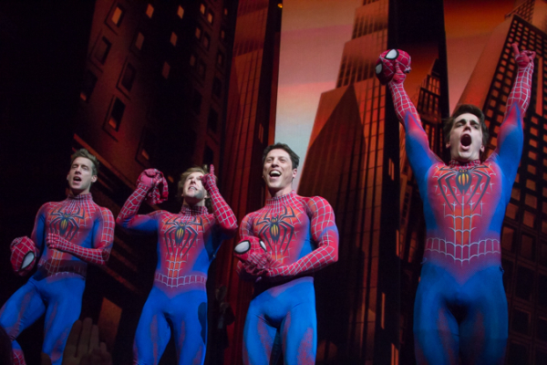 <p>The Spider-Men take their final bow.</p><br />(© Seth Walters)