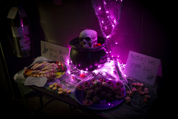 <p>The spooky event included a candy-filled potluck.</p><br />(&copy&#x3B; Jeremy Daniel)