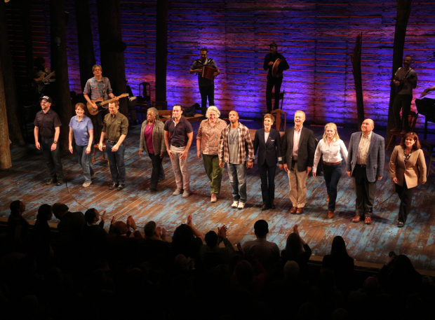 <p>The stars of <em>Come From Away</em> take their opening-night bows.</p><br />(© David Gordon)