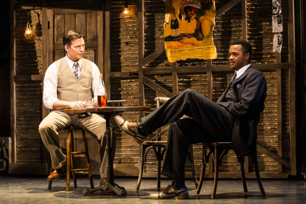 <p><em>The Sting</em> stars Harry Connick Jr. and J. Harrison Ghee share a scene.</p><br />(© Evan Zimmerman)