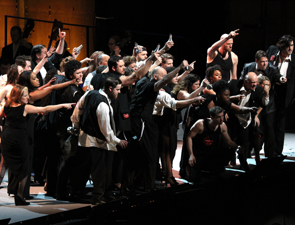 <p>The <em>Sweeney Todd</em> ensemble performs &quot&#x3B;Pirelli&#39&#x3B;s Miracle Elixir.&quot&#x3B;</p><br />(© David Gordon)