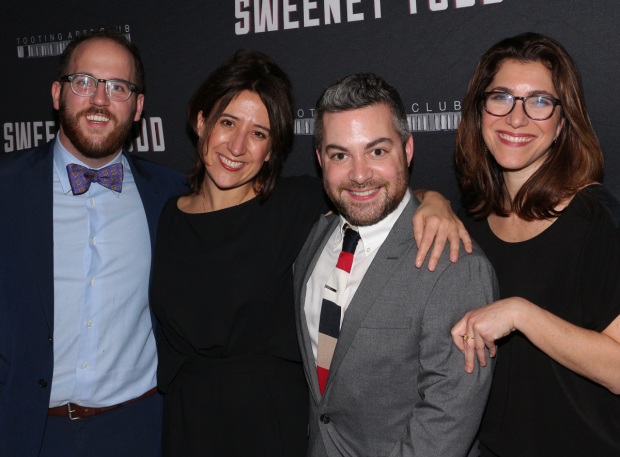 <p>The <em>Sweeney Todd</em> producing team: Greg Nobile, Rachel Edwards, Nate Koch, and Jenny Gersten.</p><br />(© David Gordon)