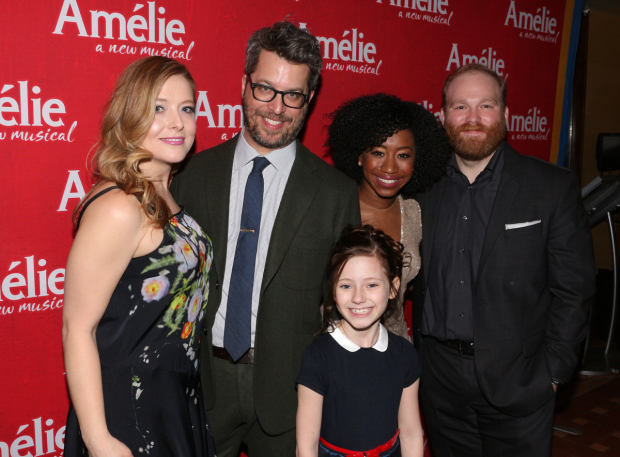 <p>The swings of <em>Amélie</em>: Emily Afton, Trey Ellett, Audrey Bennett, Destinee Rea, and Jacob Keith Watson.</p><br />(© David Gordon)