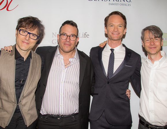 <p>The team behind <em>Hedwig and the Angry Inch</em>: Stephen Trask, Michael Mayer, Neil Patrick Harris, and John Cameron Mitchell.</p><br />(© Seth Walters)