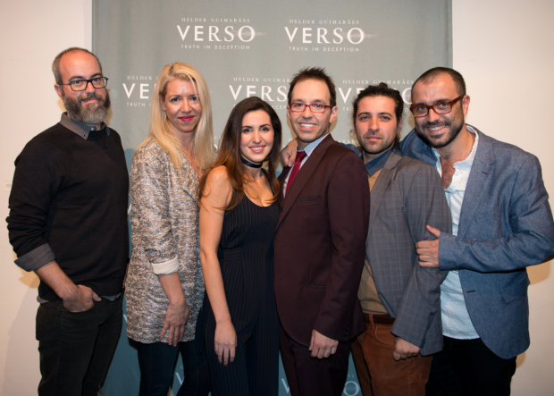<p>The <em>Verso</em> creative team: Pedro Vieira de Carvalho, Kelly Devine, Catarina Marques, Helder Guimarães, Pedro Marques, and Rodrigo Santos.</p><br />(© Allison Stock)