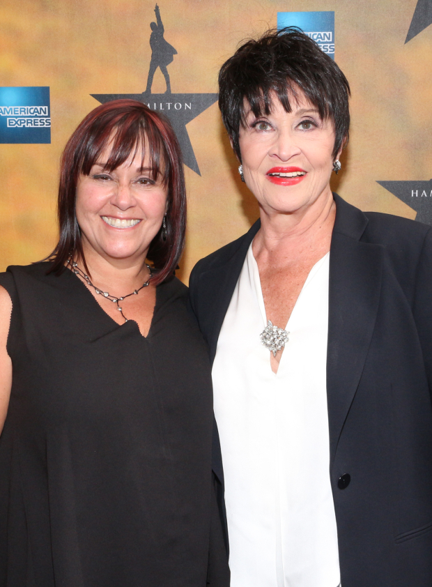 <p><em>The Visit</em> star Chita Rivera attends the opening of <em>Hamilton</em> with her daughter, Lisa Mordente.</p><br />(© David Gordon)