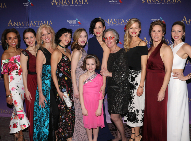 <p>The women of <em>Anastasia</em>&#39&#x3B;s ensemble.</p><br />(© David Gordon)