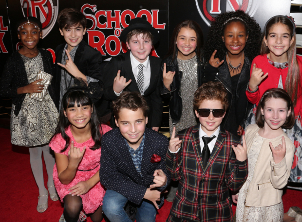 <p>The young cast members of <em>School of Rock</em> are ready for their opening-night party to kick into high gear.</p><br />(© David Gordon)