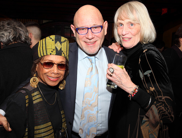 <p>Theater artists Micki Grant, Gary Garrison, and Tina Howe enjoy a night out.</p><br />(© Douglas Gorenstein)