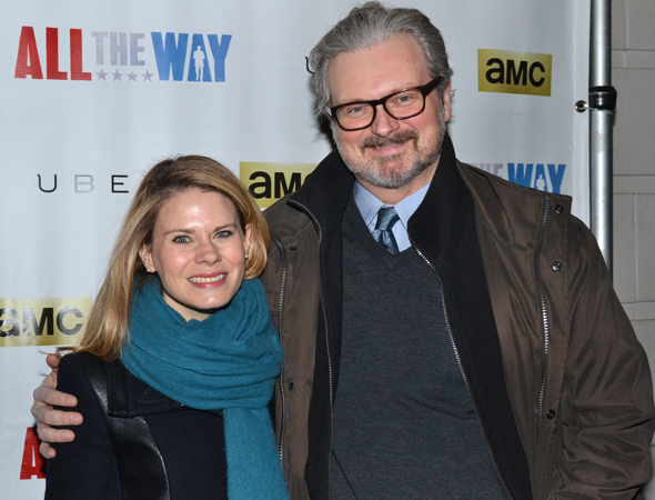 <p>Theater couple Celia Keenan-Bolger and John Ellison Conlee spend date night at <em>All the Way</em>.</p><br />(© David Gordon)