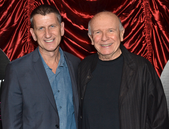 <p>Theatrical producer Tom Kirdahy and playwright Terrence McNally proudly eschewed the black-tie request. </p><br />(© David Gordon)