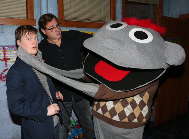<p>There was another VIP on hand: a life-sized Tyrone Halloween costume!</p><br />(© David Gordon)