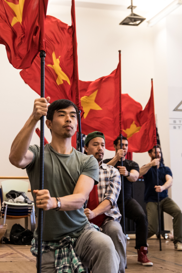 <p>There&#39&#x3B;s no shortage of props on hand during rehearsals of <em>Miss Saigon</em> on Broadway.</p><br />(© Matthew Murphy)