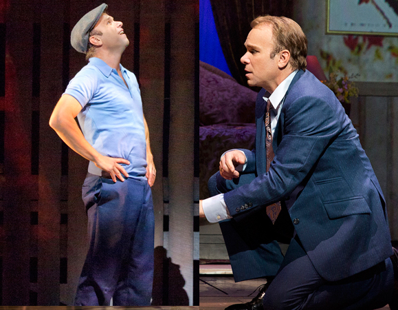 "<p>This is Long's fourth production with Norbert Leo Butz. ""I've already given him a thirty-pound fat pad in <em>Catch Me If You Can</em>,"" Long says, ""but here, he led the way."" There were 25 different concepts for Edward Bloom, all of which were pitched to the actor who then edited them down himself. ""We didn't go to Susan until he was happy.""</p><br />(© Paul Kolnik)"