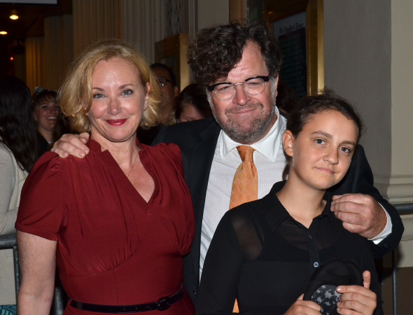 <p><em>This Is Our Youth</em> playwright Kenneth Lonergan has his wife, actress J. Smith Cameron, and their daughter, Nellie, by his side.</p><br />(© David Gordon)