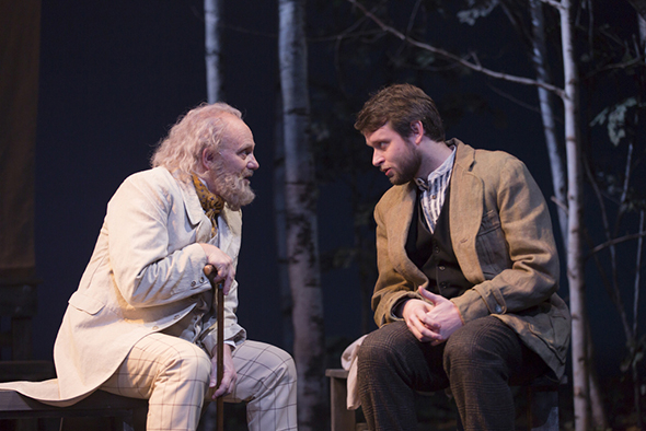 <p>Thomas Derrah and Morgan Ritchie take the stage in <em>The Seagull</em>.</p><br />(© T Charles Erickson)