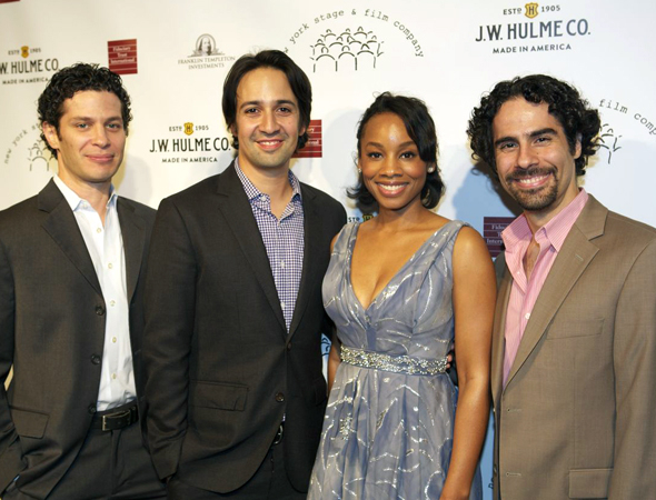 <p>Thomas Kail, Lin-Manuel Miranda, Anika Noni Rose, and Alex Lacamoire were on hand to present selections from Miranda&#39&#x3B;s new musical, <em>The Hamilton Mixtape</em>.</p><br />(© Christopher Gower Johnson)