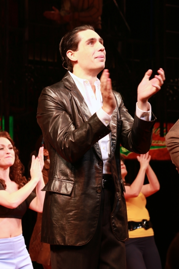 <p>Thornton soaks up the applause as he officially makes his Broadway debut.</p><br />(© Tricia Baron 2016)