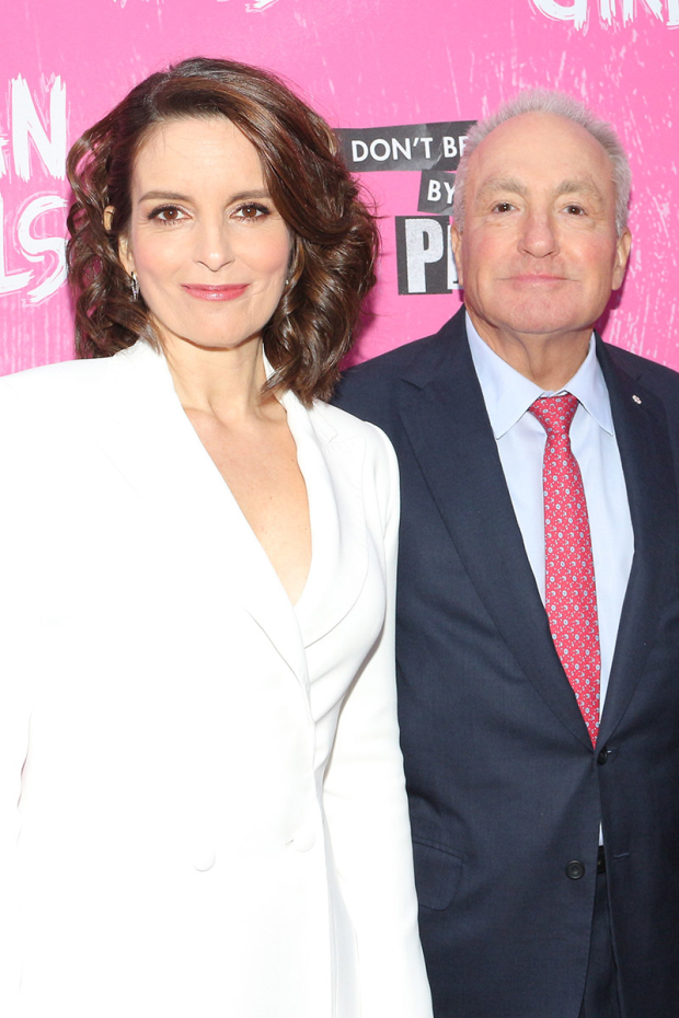 <p>Tina Fey poses with longtime collaborator and <em>Mean Girls</em> producer Lorne Michaels.</p><br />(© David Gordon)