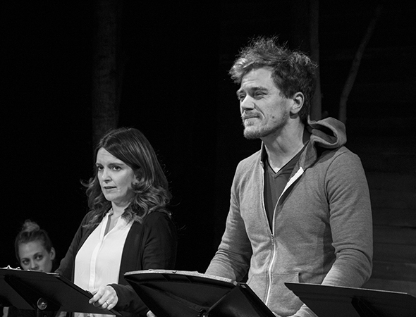 <p>Tina Fey shares the stage with Michael Shannon.</p><br />(© David Gordon)