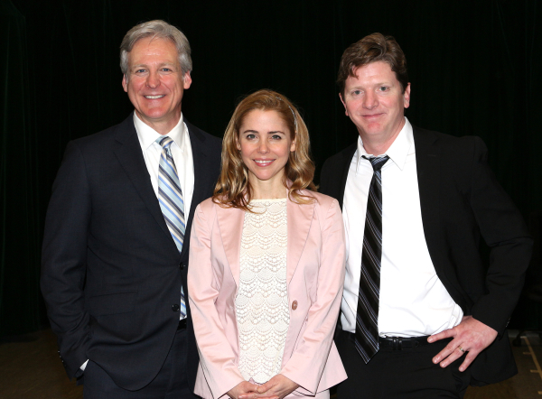 <p>Tom Galantich, Kerry Butler, and Duke Lafoon lead the cast of <em>Clinton The Musical</em> as WJ Clinton, Hillary Rodham Clinton, and Billy Clinton, respectively.</p><br />(© David Gordon)