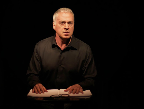 <p>Tom Hewitt takes the stage in <em>Another Medea.</em></p><br />(Photo courtesy of the production)