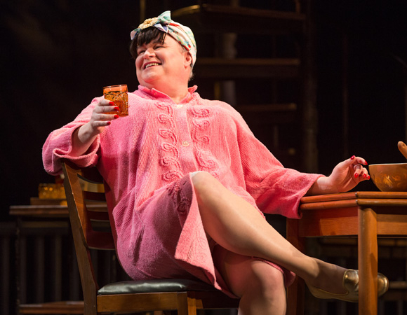 <p>Tom McGowan plays Bessie in <em>Casa Valentina</em>.</p><br />(© Joan Marcus)