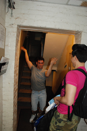 <p>Tommy Bracco is so excited for opening night that he is showing us his happy dance.</p>