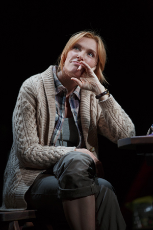 <p>Toni Collette (Jennifer Jones) steals a pensive moment.</p><br />(© Joan Marcus)