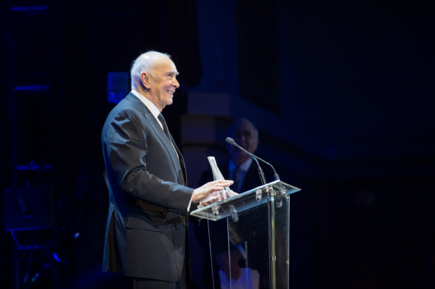 <p>Tony Award winner Frank Langella received the Jason Robards Award for Excellence in Theatre.</p><br />(© Kelly Kollar)