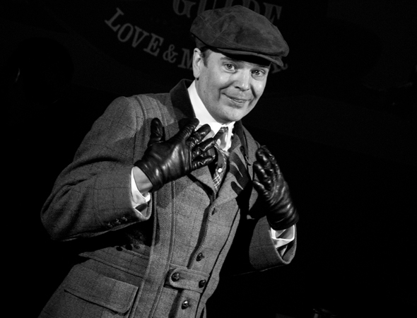 <p>Tony Award winner Jefferson Mays leads the company as the eight D&#39&#x3B;Ysquith heirs.</p><br />(© David Gordon)