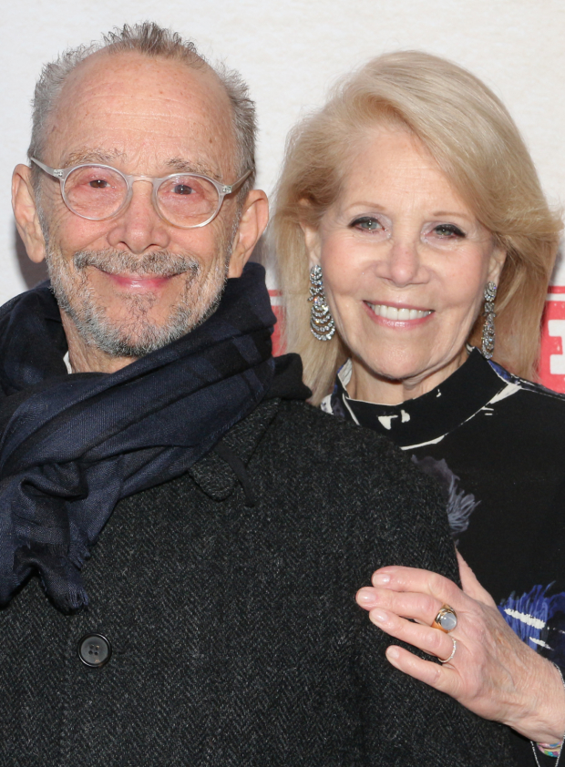 <p>Tony Award winner Joel Grey poses for a photo with Daryl Roth.</p><br />David Gordon