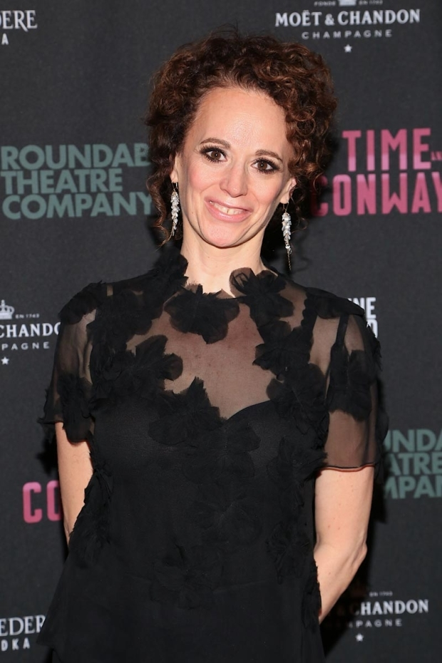 <p>Tony Award-winning director Rebecca Taichman celebrates another successful opening night.</p><br />(© Tricia Baron)