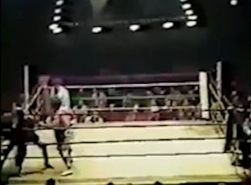<p>Tony Danza punches a guy out of a boxing ring.</p>