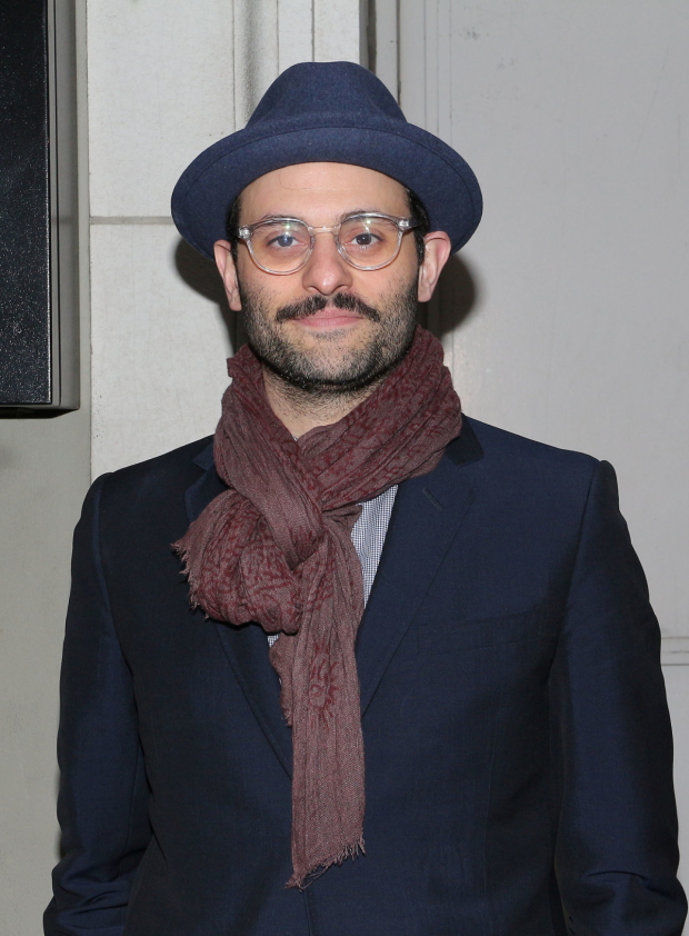 <p>Tony nominee Arian Moayed came looking stylish.</p><br />(© David Gordon)