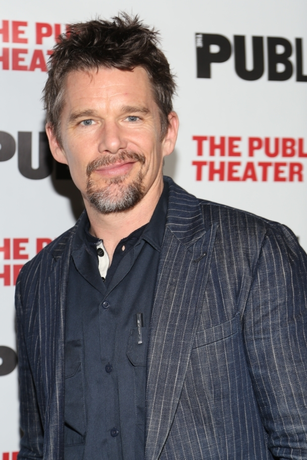 <p>Tony nominee Ethan Hawke came out to support.</p><br />(© Tricia Baron)