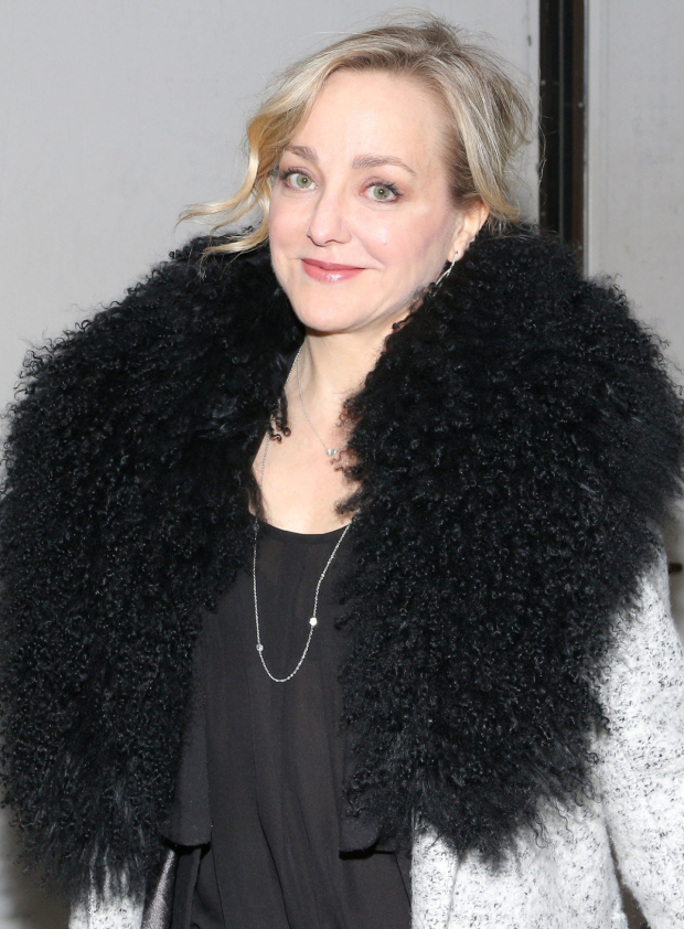 <p>Tony nominee Geneva Carr stopped for a photo.</p><br />(© David Gordon)
