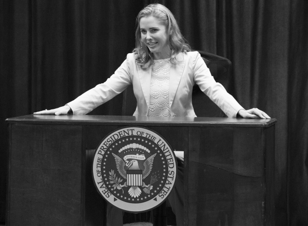 <p>Tony nominee Kerry Butler leads the cast of <em>Clinton the Musical</em> as Hillary Rodham Clinton.</p><br />(© David Gordon)